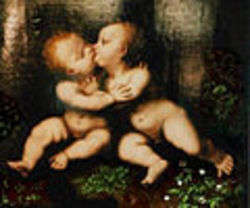 The Holy Infants Embracing by Leonardo da Vinci