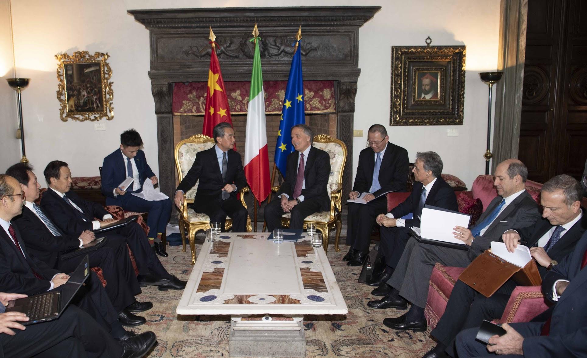 Italia-Cina: foto del Mistero degli Affari esteri