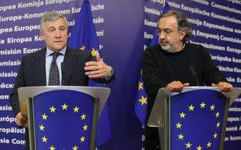 Tajani e Marchionne - Credit © European Union, 2012